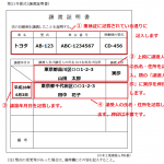 譲渡証明書の記載例