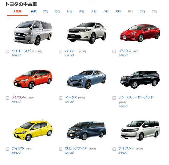 人気車種一覧