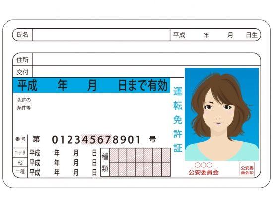 免許証のサンプル