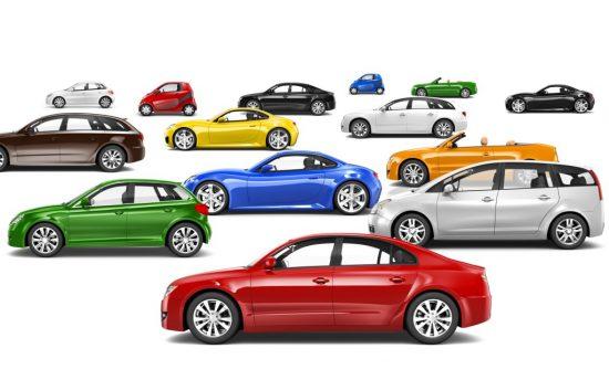 様々な種類の新車