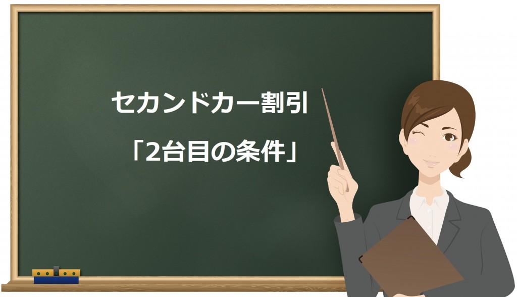 黒板に書かれた「2台目の条件」