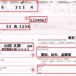 ナンバー再交付の申請書記載例