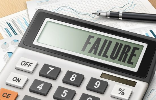 失敗と表示された電卓