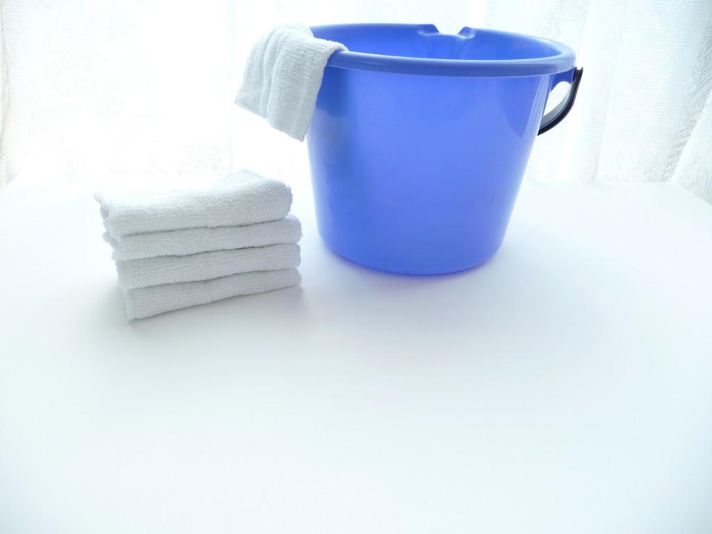 雑巾とバケツ