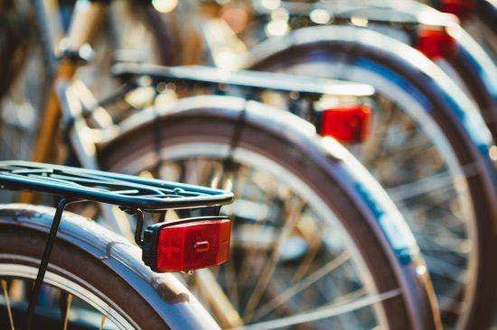 自転車の反射材