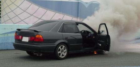 火災車(火事で燃えた車)の買取査定評価額はかなり低い