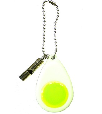 ヨシオ 笛付 蓄光反射 キーホルダー