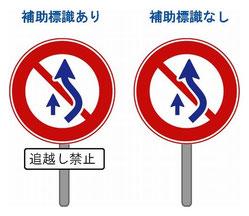 追い越し禁止の標識