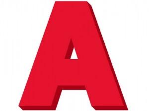 ローマ字「A」
