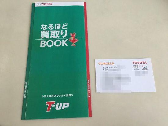T-UPのパンフレットと名刺