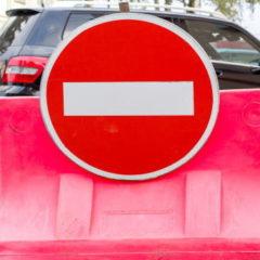 車の通行禁止・進入禁止場所の標識一覧と違反した場合の罰金・点数