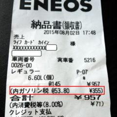 ガソリンにかかる税金の内訳~ガソリン税・石油税・消費税について解説~